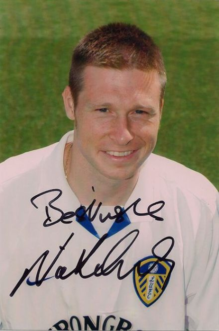 Nick Barmby, Leeds Utd, signed 6x4 inch photo.